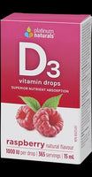 Platinum Naturals Delicious D Vitamin D3 Drops (Raspberry) - Homegrown Foods, Stony Plain