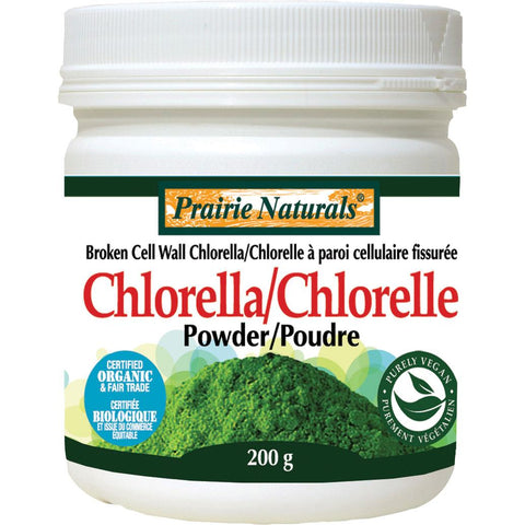 Prairie Naturals Chlorella Broken Cell Wall, Powder - 200g - Homegrown Foods, Stony Plain