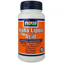 Now Alpha Lipoic Acid, 600mg - 60 VCaps - Homegrown Foods, Stony Plain