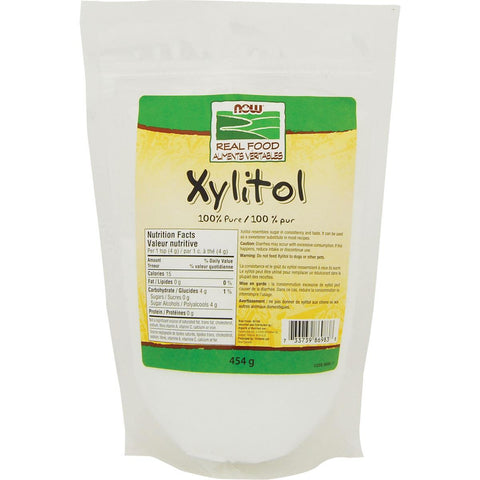 NOW Xylitol 100% Pure - 454g - Homegrown Foods, Stony Plain