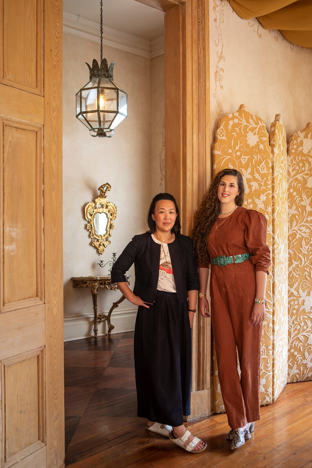 The creators of The Garden Journey, Natalie Soud and Joanne Yun, in the Hotel Peter + Paul