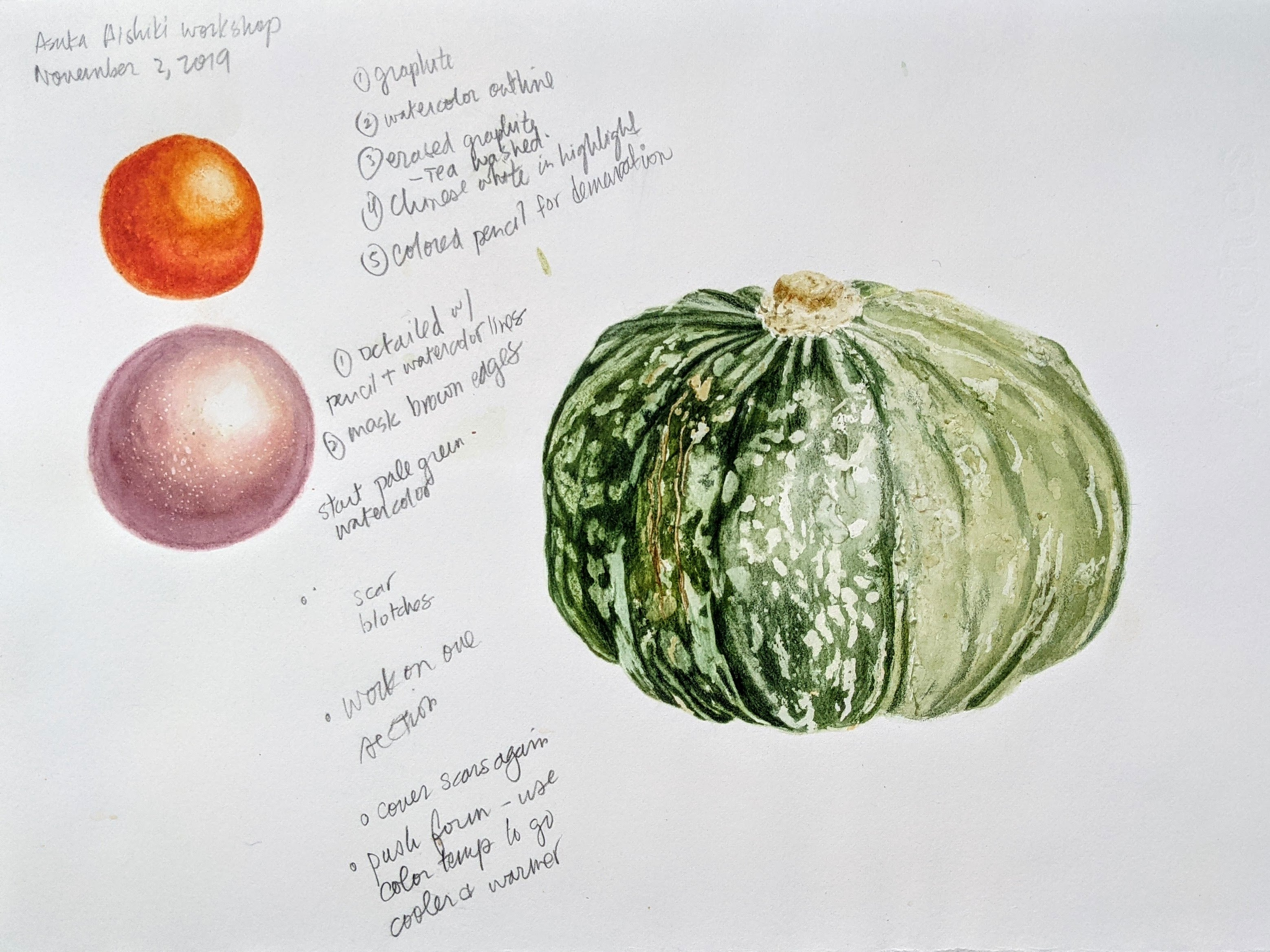 A study of a fall gourd