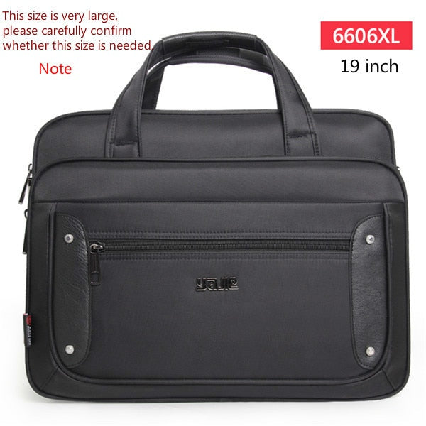 Men's Briefcase Women Handbags Laptop Bags 16 17 19 Inch Oxford Crossbody Travel Bag