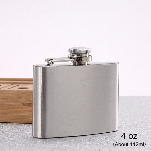 1-10 oz High Quality Wine Whisky Pot Bottle Hip Flasks Drinker Alcohol Bottle Portable Drinkware Stainless Steel
