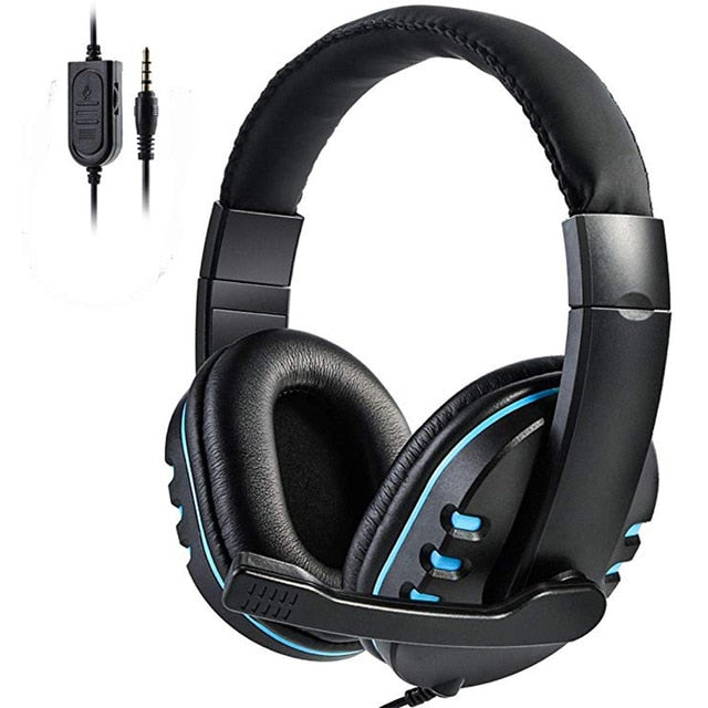 Wired Over-Head Gamer Headphone With Microphone Volume Control Game Earphone