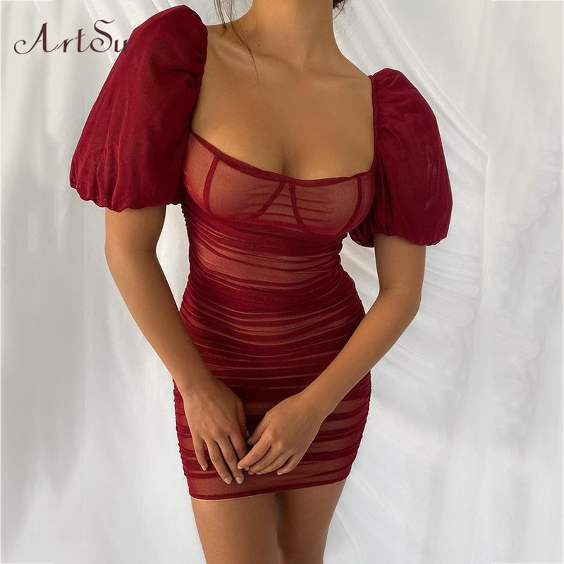 Sexy Party Night Club Bodycon Red Dress