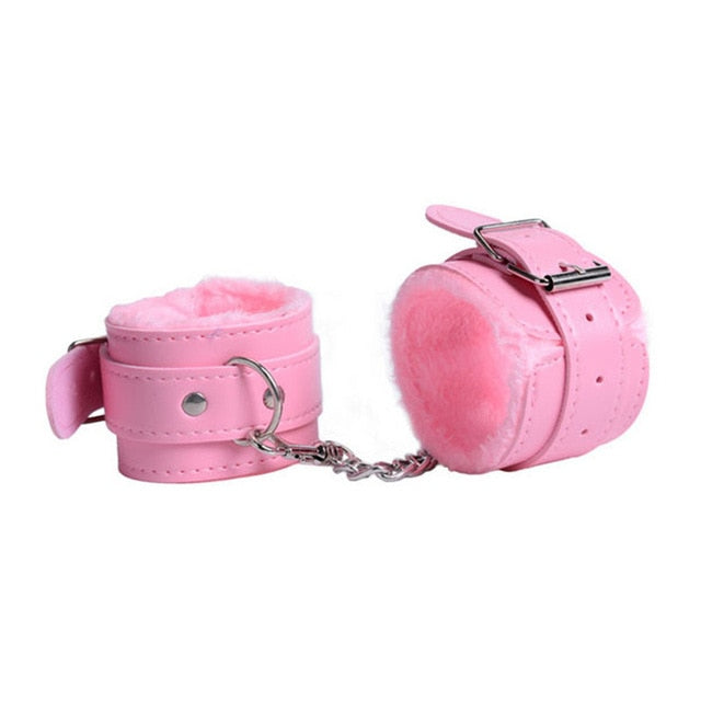 Handcuffs Neck Pillow Ankle Cuff Kit Lingerie Porn Sexy Costumes