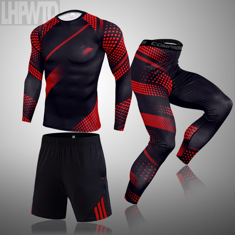 Clothing Thermal underwear set Jogging  Wear Exercise Workout Tights