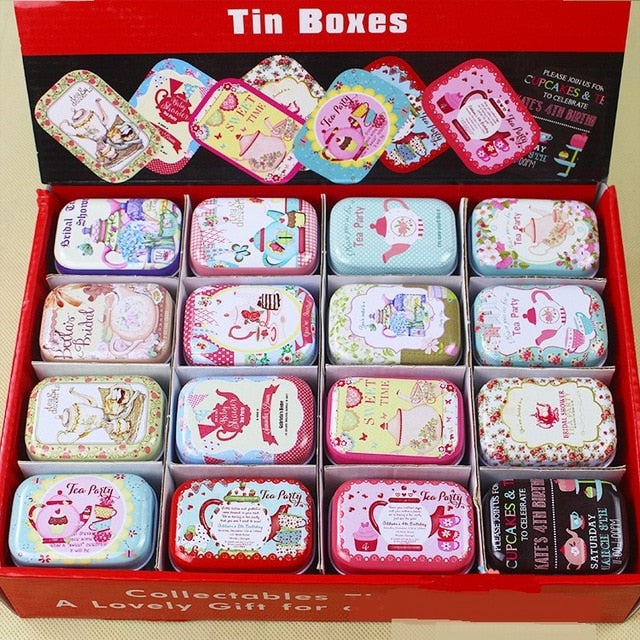 Colorful mini tin box sealed jar packing boxes jewelry, candy box small storage boxes