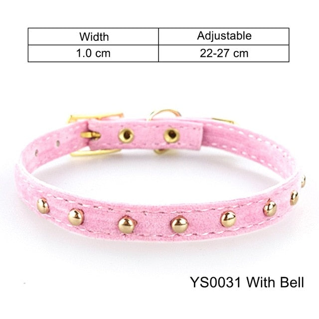 Cat Collar With Bell Safety Cat Collars Puppy Dog Collar For Cats Small Dogs Kittens