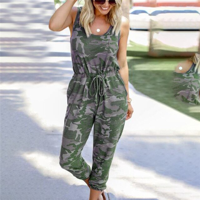 Streetwear White Sexy Bodycon Jumpsuit Women Overalls