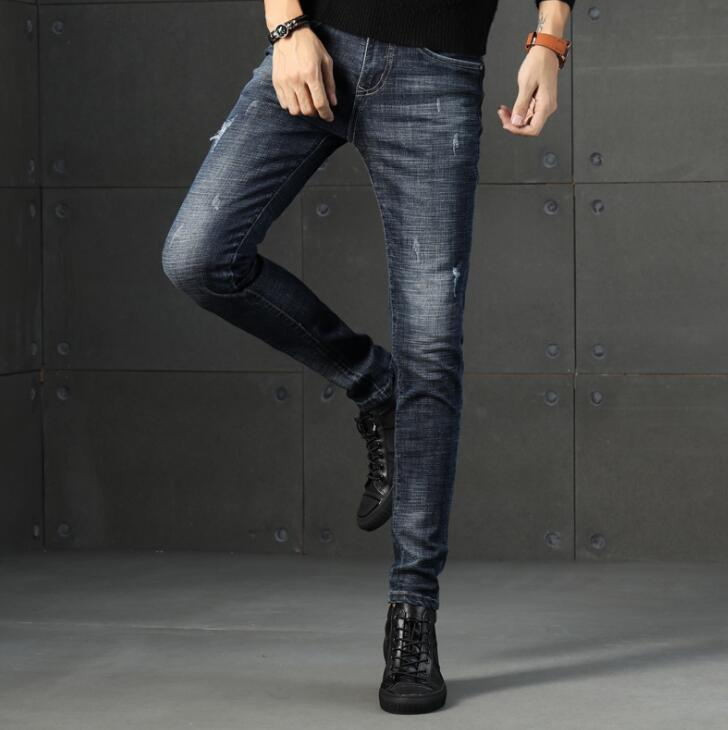 High Quality Stylish Popular Long Length Men Jeans Stretch Long Male Pants