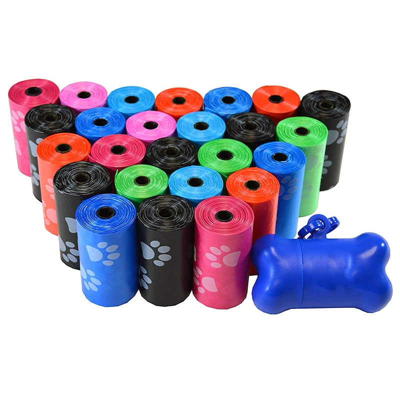10 Rolls Paw Printing Dog Poop Bag  15 Bags/ Roll Large Cat Waste Bags