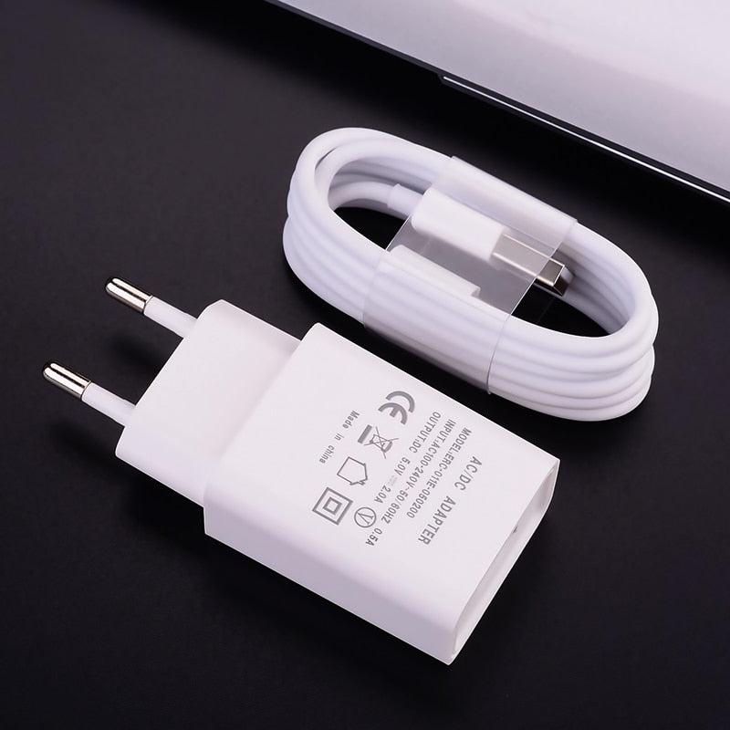 5V 2A Charger and Cable, Fast Charging USB Wall Phone Charger