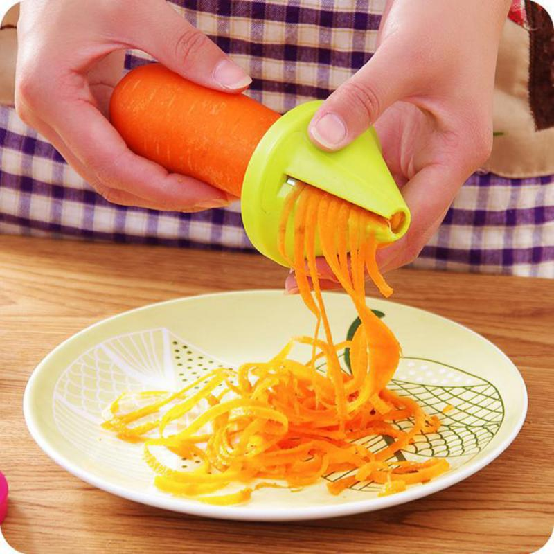 Funnel Model Spiral Slicer Vegetable Shred Device Cooking Salad Carrot Radish Cutter