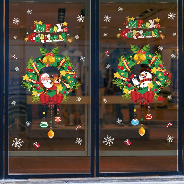 1set White Snowflake Sticker Decoration Glass Window Kids Room
