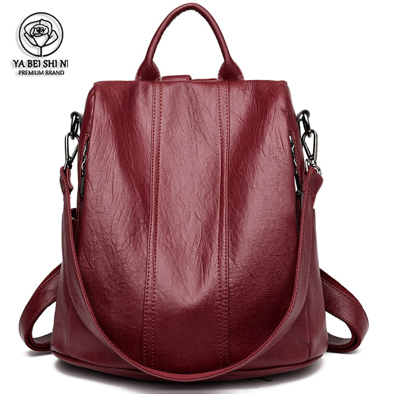 Women Waterproof anti-theft Leather Backpacks Bags For Girls