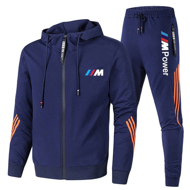 Two Pieces Casual Tracksuit Male Sportswear Gym Brand Clothing Sweat Suit