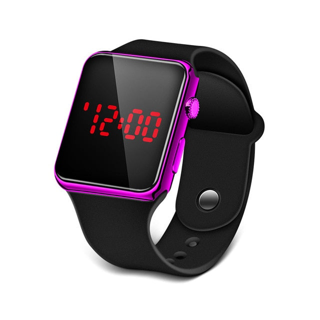 LED Watch Silicone Electronic Watch Couple Watches