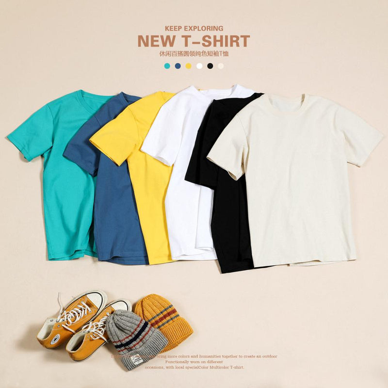 T Shirt Men Causal O-neck Basic T-shirt Male