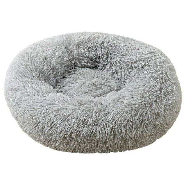 Dog Bed Round Plush Basket Kennel Cat House Winter Warm Pet House Sleeping Bag Cats Nest