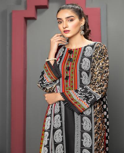 Ittehad IF JN 1617B Linen Series 3 Piece 2020