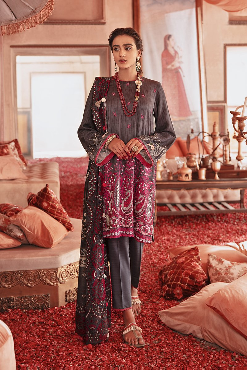 Cross Stitch Dusk Silhouette Nur Jahan Collection 2020