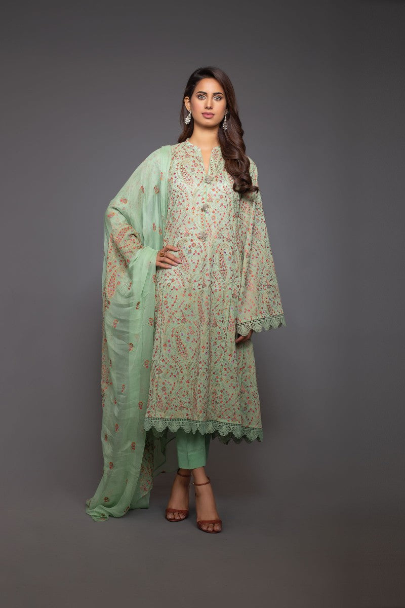 Bareeze Royal Paisley 1 Mc620 Green Collection 2021