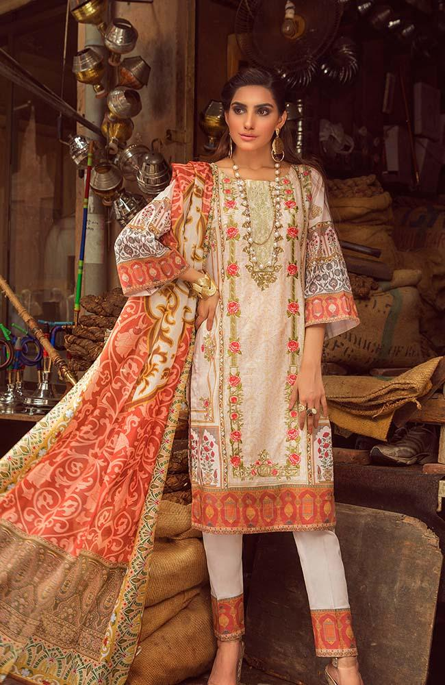 Al Zohaib RNE20-04B Rung Embroidered Collection 2020