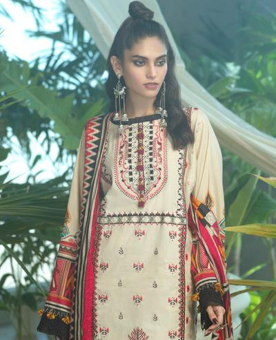 Ittehad ITE 020 SUT BGE Embroidered Series 2020