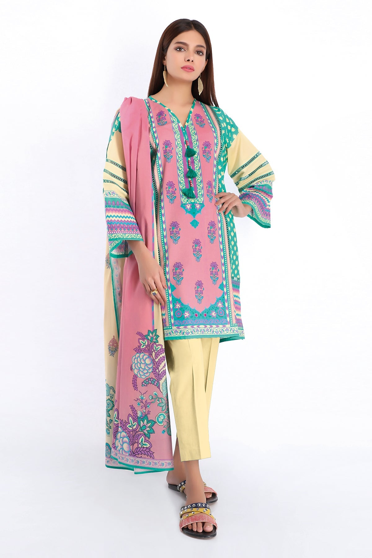 Khaadi A20243 Pink Summer Collection 2020
