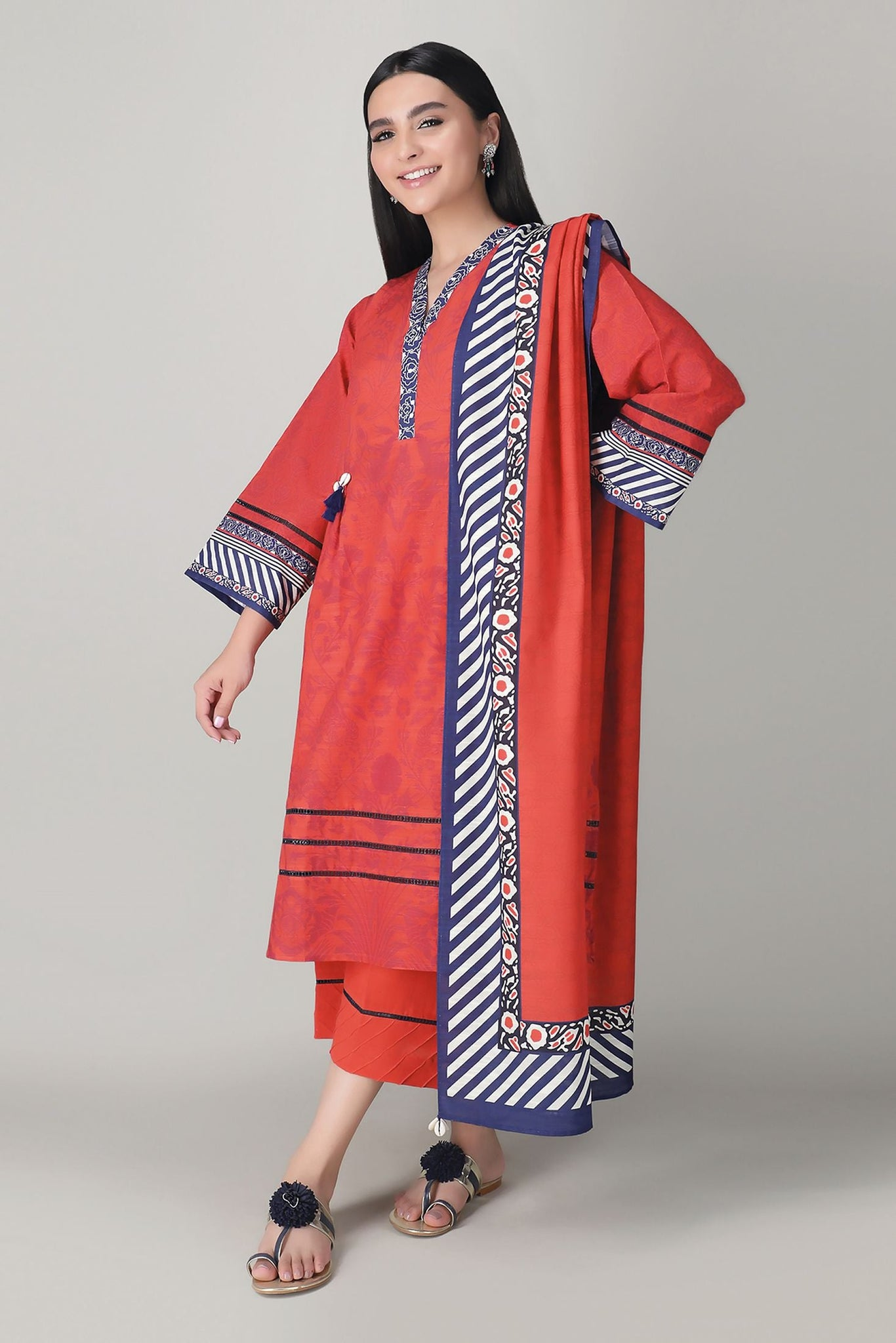 Khaadi Alk20419 Red Winter Collection 2020