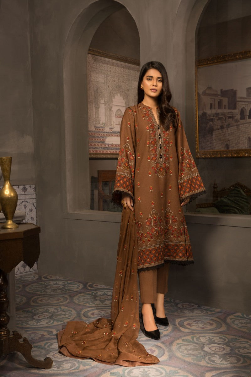 Bareeze Dhoop Kinary Ch3058 Brown Collection 2021