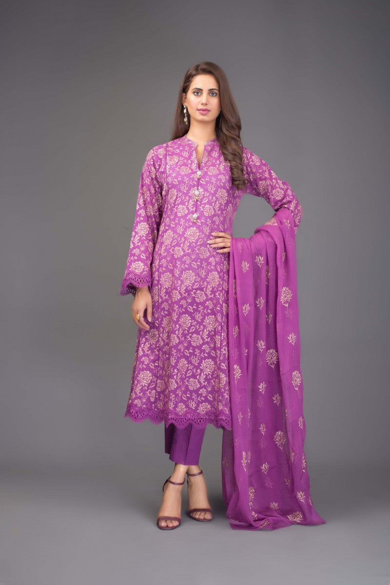 Bareeze Gul E Saba Bnl763 Purple Collection 2021