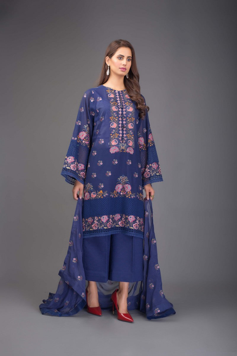 Bareeze Floral Dusk Ch2921 Blue Collection 2021