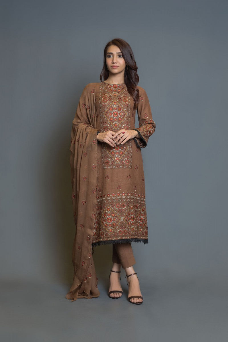 Bareeze Dhoop Kinary Ch3057 Brown Collection 2021