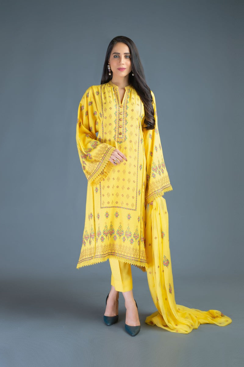 Bareeze Majestic Empire Ch3108 Yellow Collection 2021
