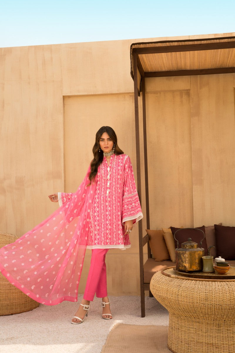 Bareeze Fabulous Chikankari Er674 Pink Collection 2021