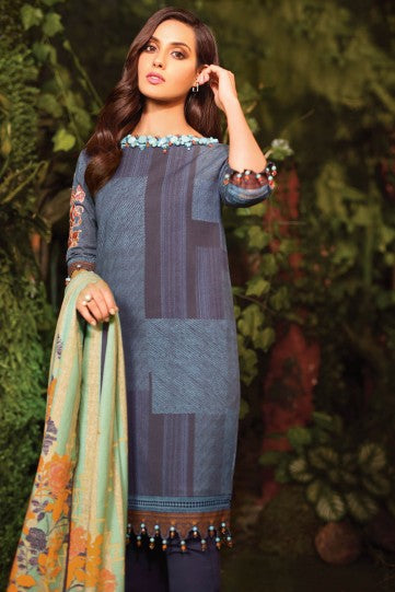 AlKaram Fw-41-20 Blue Winter Collection 2020