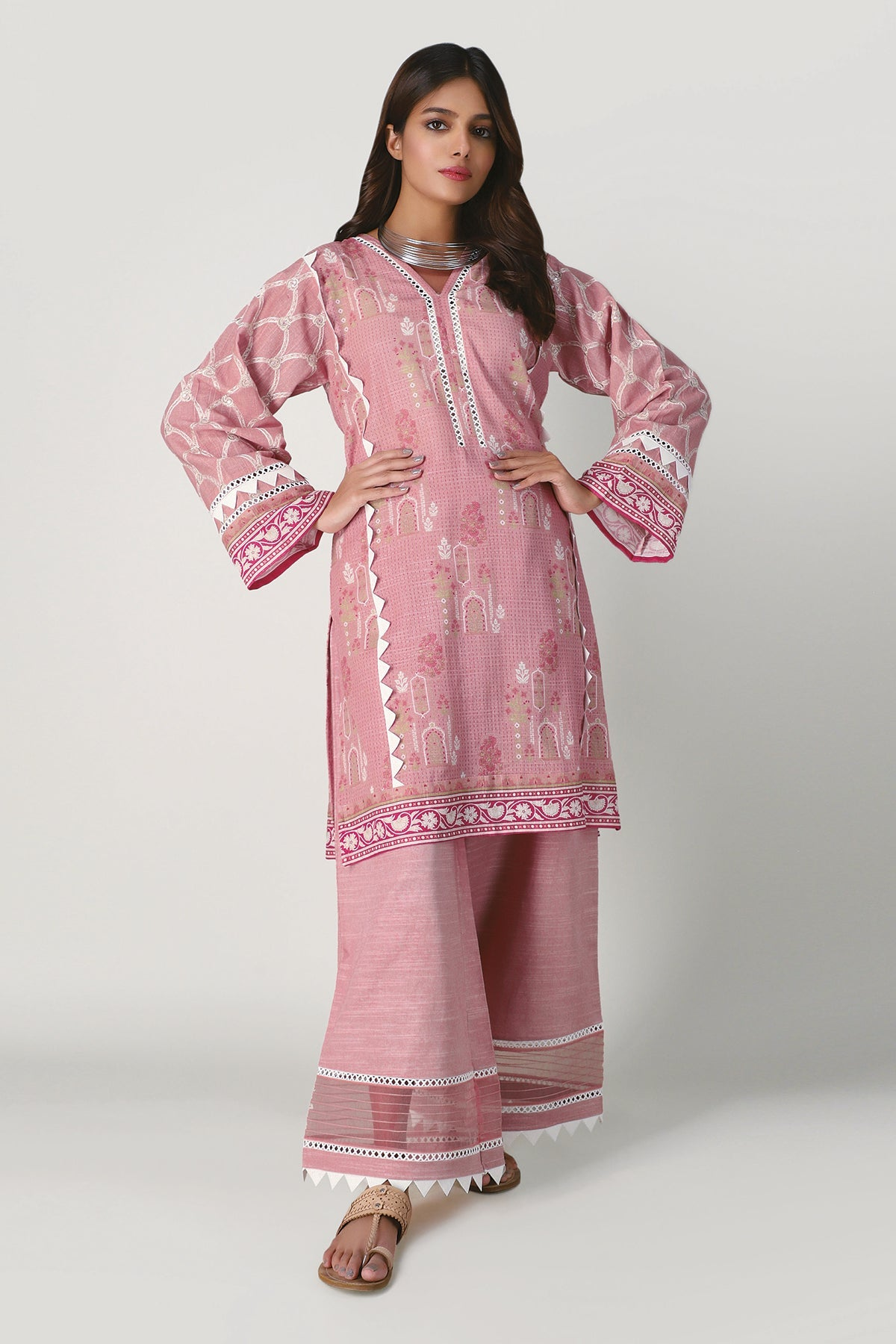 Khaadi Ik20405 Pink Winter Collection 2020