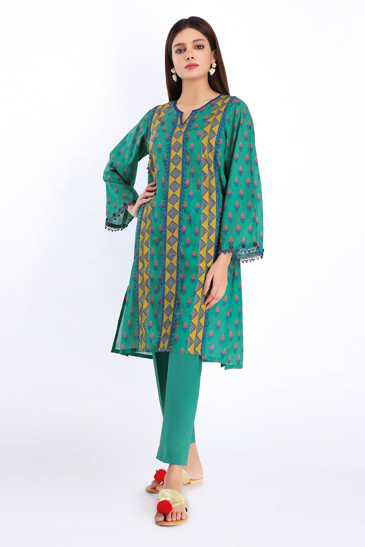 Khaadi J20228 Green Summer Collection 2020