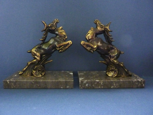 Art deco stag bookends love deco - Stag book ends ...