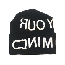 Load image into Gallery viewer, Empty Your Mind Reverse Embroidery Beanie Black