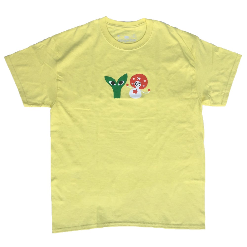 Aapi and Stargirl T-Shirt Light Yellow