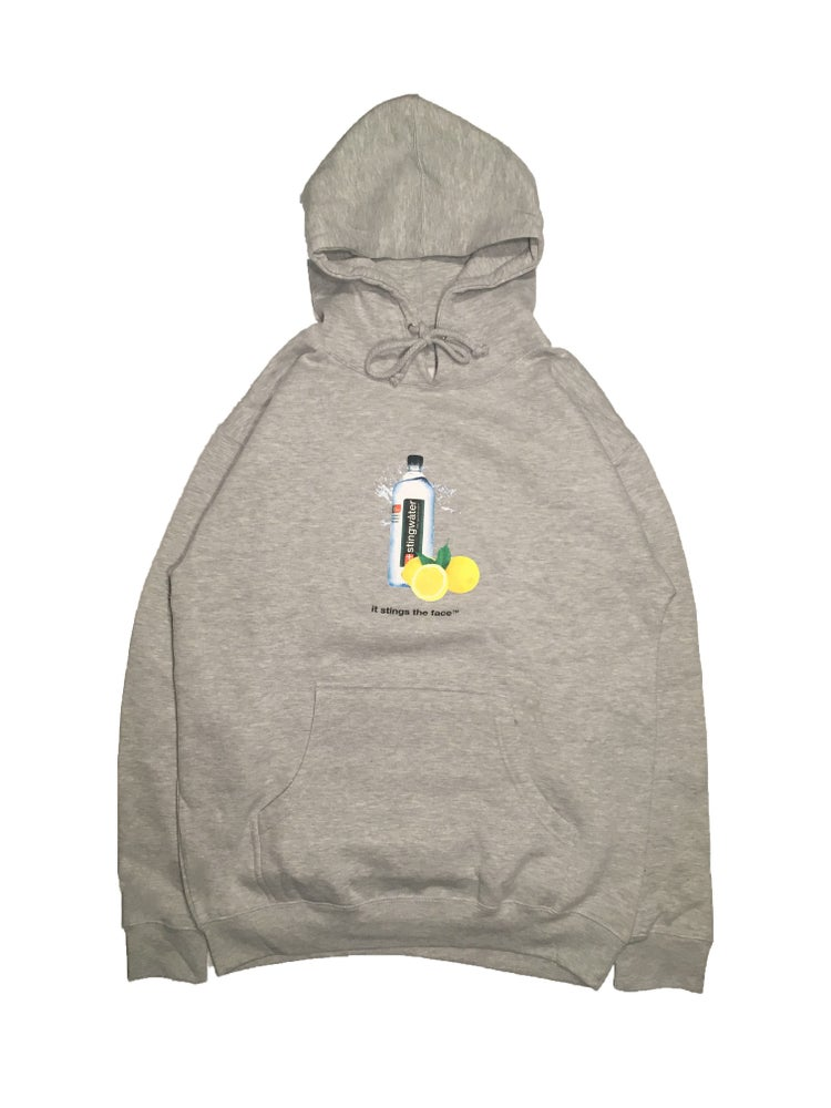 Lemon sting hoodie heather grey
