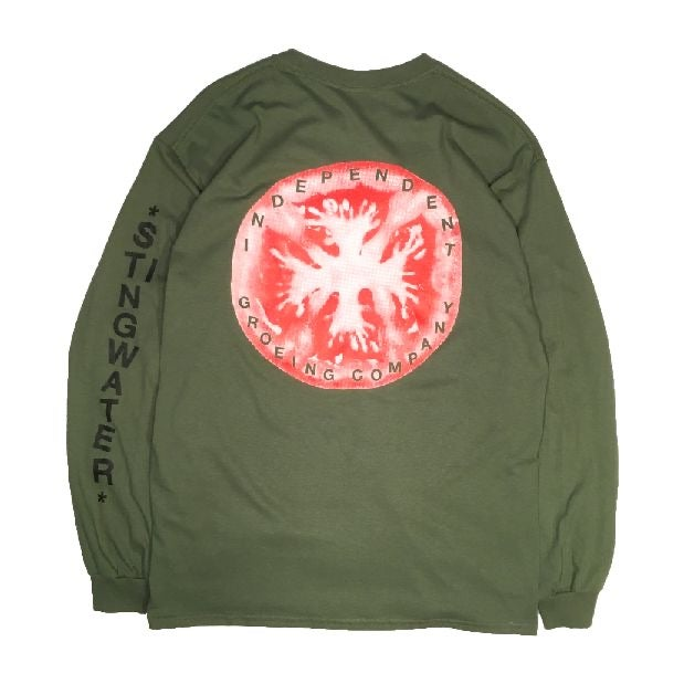 Independent Groeing Company Long Sleeve T Shirt Military Green