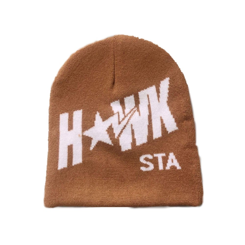 HAWK STA reversible beanie curry / inner pink