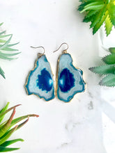 Load image into Gallery viewer, Ocean Blue Agate Earrings