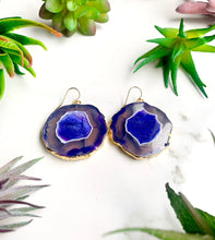 Load image into Gallery viewer, Purple Agate Earrings
