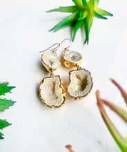 Load image into Gallery viewer, Yellow Geode Drop Earrings